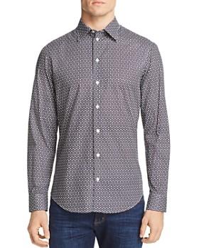 Armani - Geometric Print Classic Fit Sport Shirt