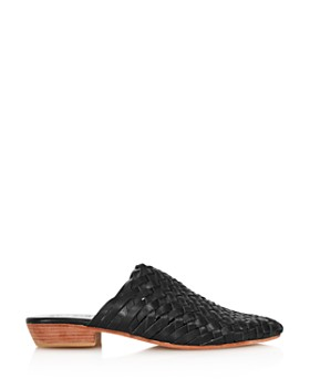 St. Agni - Women's Paris Woven Leather Mules