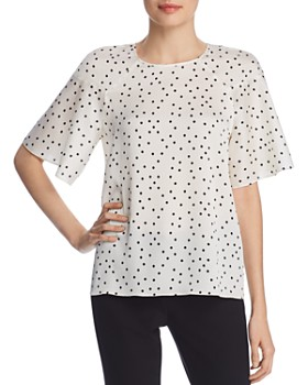 266246e991b04c VINCE CAMUTO - Bell Sleeve Polka Dot Top - 100% Exclusive ...