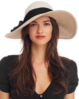 Eugenia Kim - Honey Silk-Trim Color-Bock Hat
