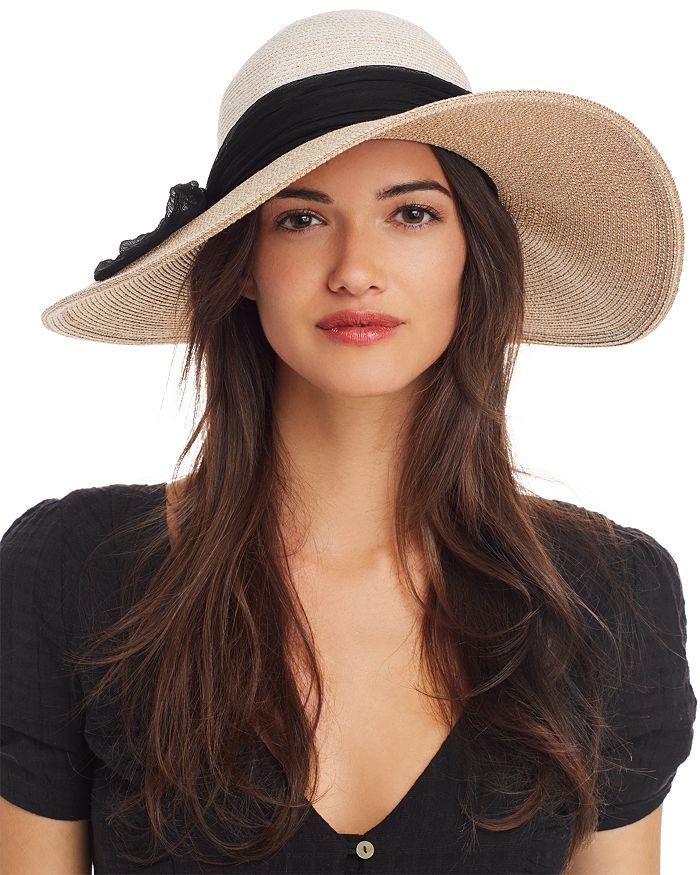 Eugenia Kim - Honey Silk-Trim Color-Bock Hat