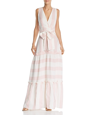 Paper London Dresses ZOE SPELLBOUND STRIPED MAXI DRESS