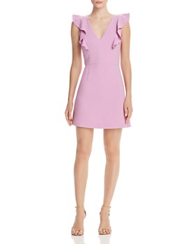 7d5e923476c6 FRENCH CONNECTION - Whisper Ruffled V-Neck Mini Dress ...