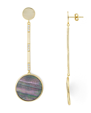 Argento Vivo Linear Circle Mother-of-Pearl Drop Earrings in 18K Gold-Plated Sterling Silver