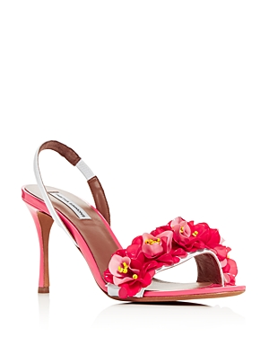 Tabitha Simmons WOMEN'S FOLLIE EMBELLISHED COLOR-BLOCK HIGH-HEEL SANDALS