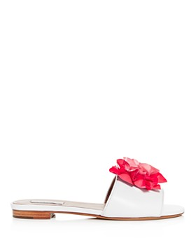 Tabitha Simmons - Women's Rose Embellished Slide Sandals