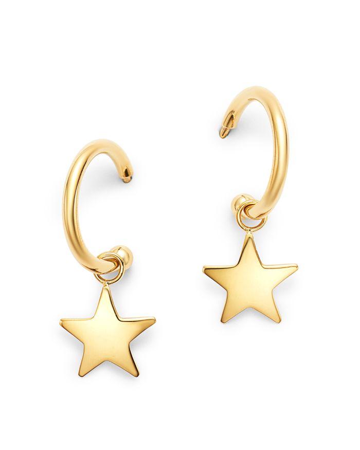 Moon & Meadow 14K Yellow Gold Small Dangling Star Hoop Earrings - 100% Exclusive    Bloomingdale's