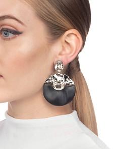 Alexis Bittar - Crumpled Crystal Clip-On Earrings