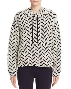 KORAL - Textured Herringbone Hooded Sweatshirt