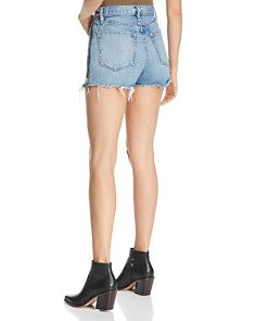 rag & bone/JEAN - Maya Side-Zip Denim Cutoff Shorts in Medland