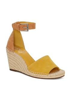 VINCE CAMUTO - Women's Leera Suede Espadrille Wedge Sandals