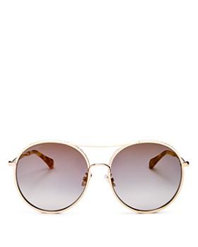 b30be43970e6 Jimmy Choo - Women s Glitter Round Sunglasses