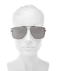 MARC JACOBS - Women's Mirrored Brow Bar Aviator Sunglasses, 60mm