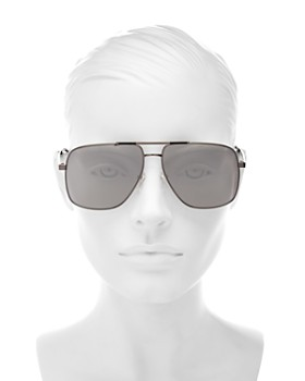 MARC JACOBS - Women's Mirrored Brow Bar Aviator Sunglasses, 60mm