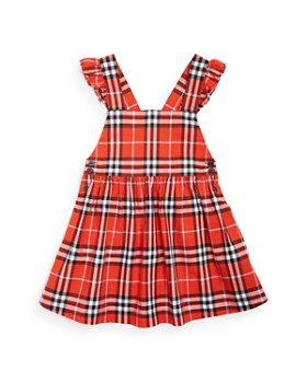 Burberry - Girls' Livia Ruffle Vintage Check Dress - Little Kid, Big Kid