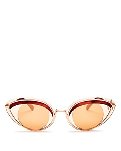 Kenzo - Women's Mirrored Cat Eye Sunglasses, 62mm
