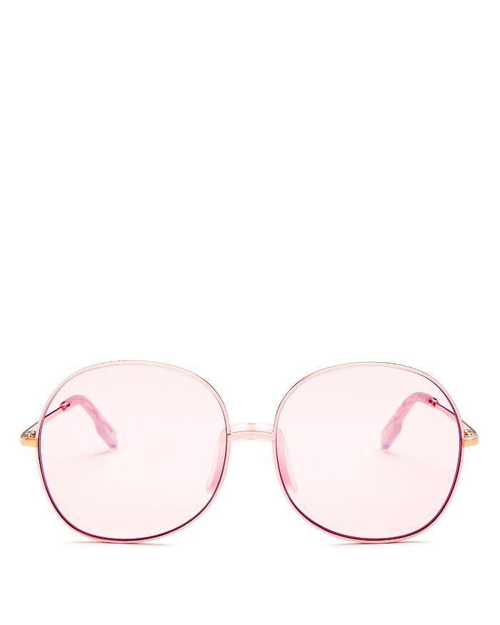 Kenzo - Women's Oversized Mirrored Round Sunglasses, 60mm