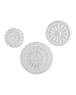 Bassett Mirror - Flower Medallions, Set of 3