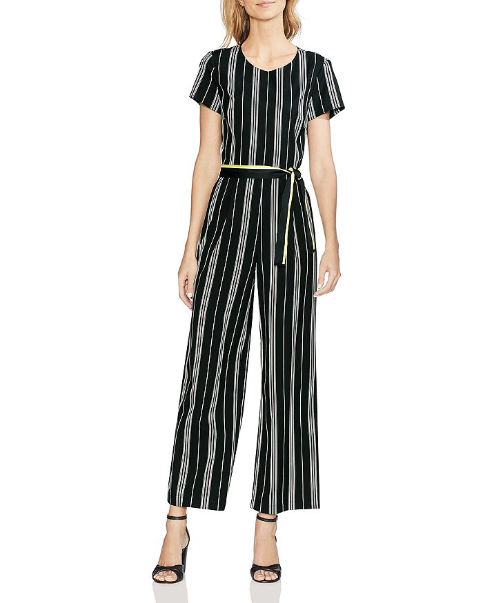 6df02f597618 VINCE CAMUTO - Belted Striped Jumpsuit