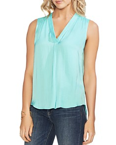 VINCE CAMUTO - V-Neck Rumple Blouse