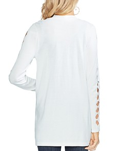 VINCE CAMUTO - Cutout-Sleeve Open Cardigan