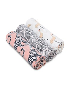 Aden and Anais - Girls' Pacific Paradise 3-Piece Swaddle Blanket Set