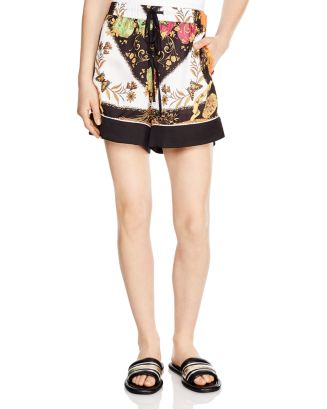Gareth Color Blocked Floral Shorts by Sandro