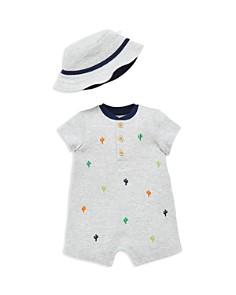 Little Me - Boys' Cacti Romper & Sun Hat Set - Baby