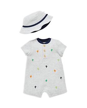 fa00df3a5fa45 Little Me - Boys  Cacti Romper   Sun Hat Set - Baby