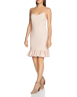 1.STATE - Ruffle-Hem Spaghetti-Strap Dress