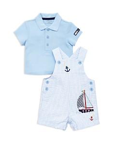 Little Me - Boys' Anchor Seersucker Overalls & Polo Set - Baby