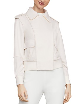 BCBGMAXAZRIA - Mixed Media Bomber Jacket