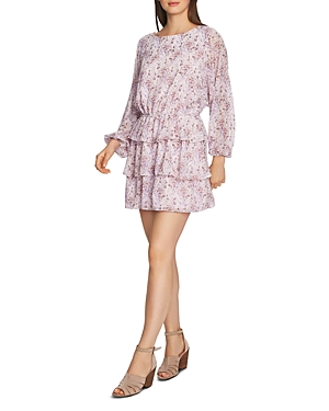 1.state Bloomsbury Floral Ruffle Dress