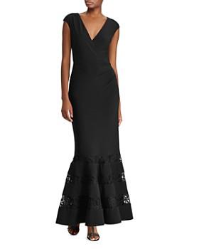 bb27ddb83d Ralph Lauren - Lace-Inset Jersey Gown ...