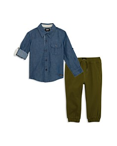 Hudson - Boys' Chambray Shirt & Jogger Pants Set - Little Kid