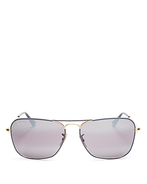 Ray Ban Sunglasses RAY-BAN UNISEX MIRRORED CARAVAN AVIATOR SUNGLASSES, 58MM