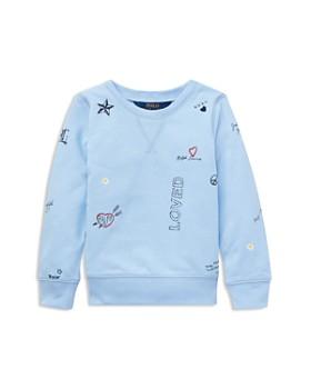 11b3d6f90 Ralph Lauren - Girls  Atlantic Terry Sweatshirt - Little Kid ...