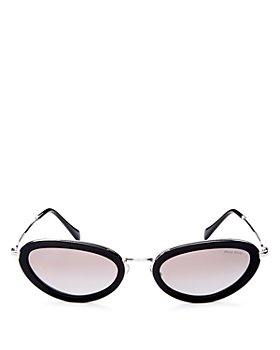 Miu Miu - Women's Mirrored Oval Sunglasses, 54mm
