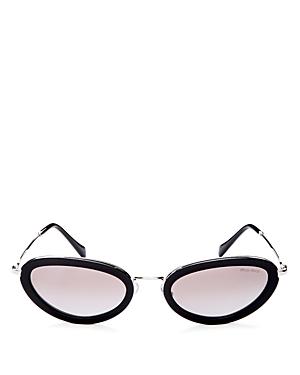 Miu Miu Women's Mirrored Oval Sunglasses, 54mm
