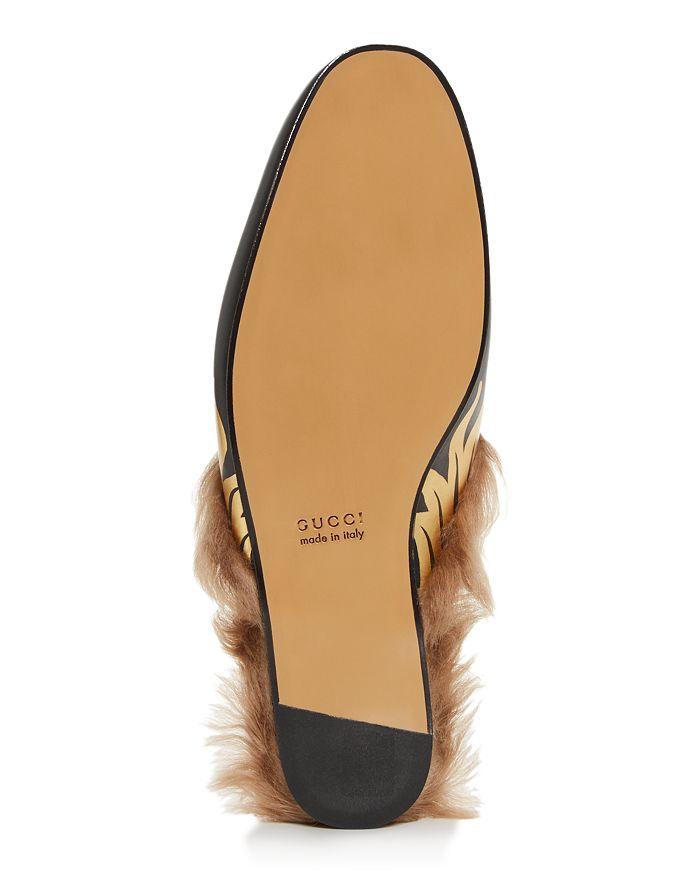 bd010806d631 Gucci Men s Princetown Flames Leather   Lamb Fur Slippers ...