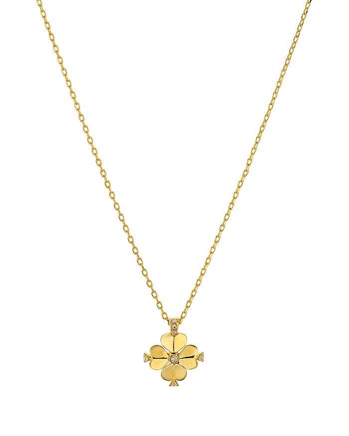 "kate spade new york - Spade Flower Mini Pendant Necklace, 16"""