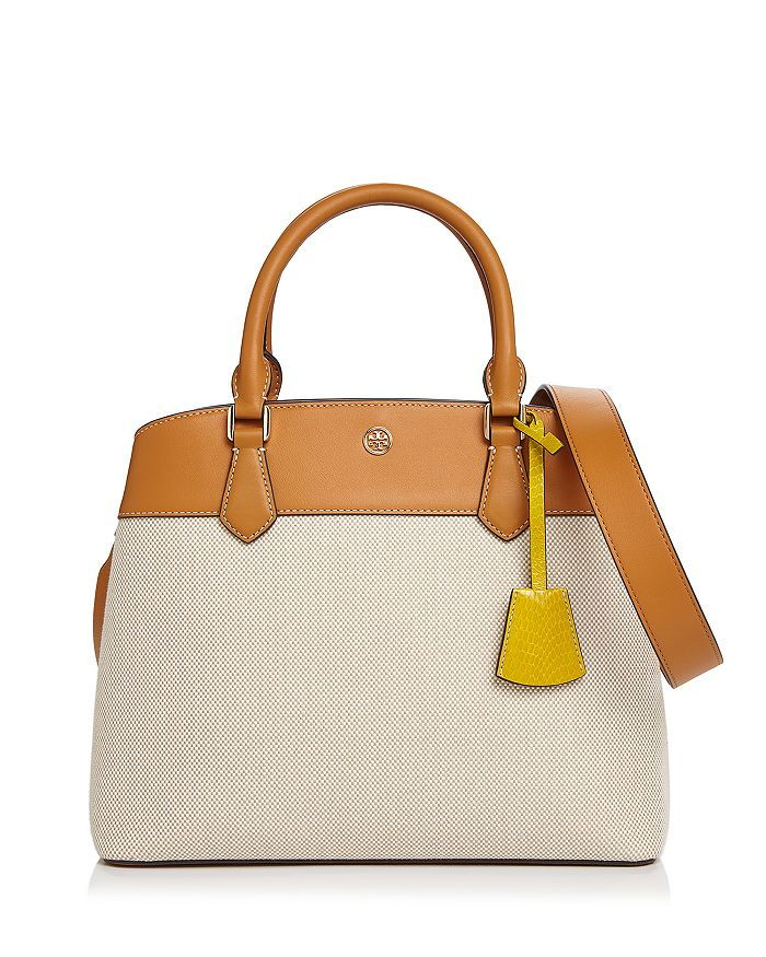 Tory Burch - Robinson Canvas Color-Block Tote