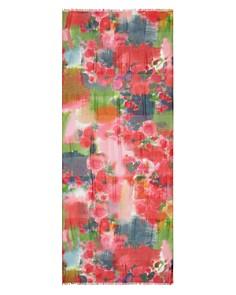 Larioseta - Metallic Watercolor Floral Scarf