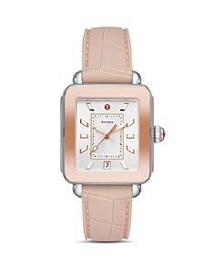 MICHELE - Deco Sport Two-Tone Rose Gold-Tone Watch, 34mm x 36mm