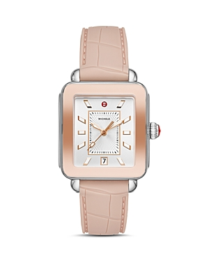 Michele  DECO SPORT TWO-TONE ROSE GOLD-TONE WATCH, 34MM X 36MM