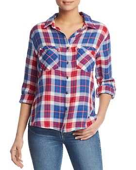 31b8782a71a Billy T - Plaid Button Down Top ...