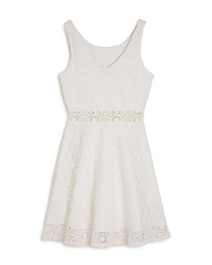 Sally Miller - Girls' The Nancy Illusion-Waist Lace Dress - Big Kid