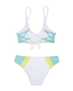 L*Space - Girls' Color-Block Little Yassi Two-Piece Swimsuit - Little Kid, Big Kid
