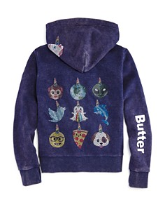 Butter - Girls' Emoji-Unicorns Zip Hoodie - Little Kid, Big Kid