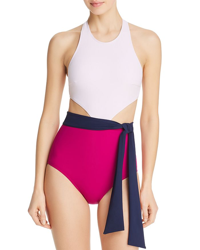 820c6cba0ec Flagpole Lynn Sash Front One Piece Swimsuit   Bloomingdale's